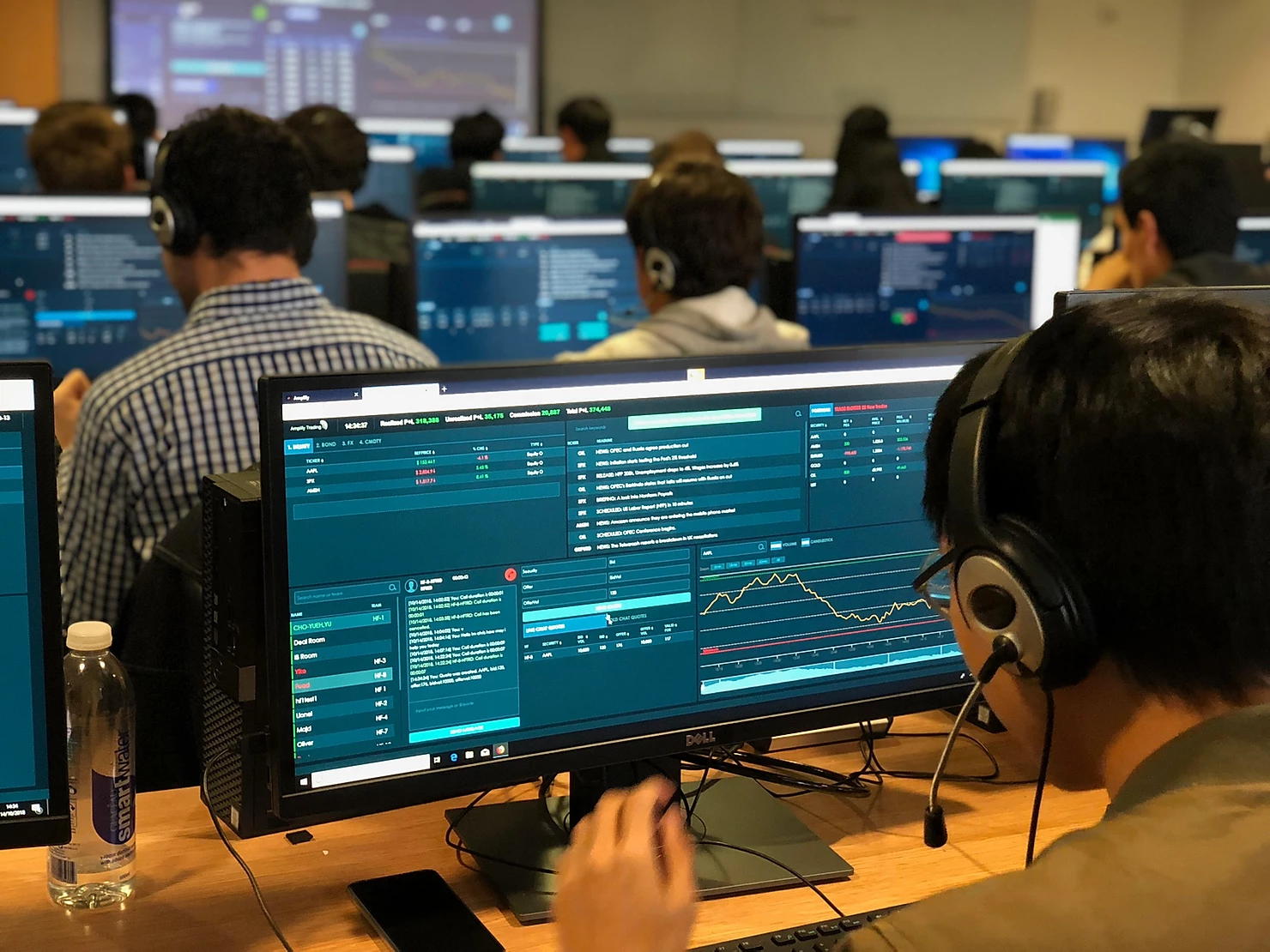 Sales and Trading simulation at Warwick Business School 2018
